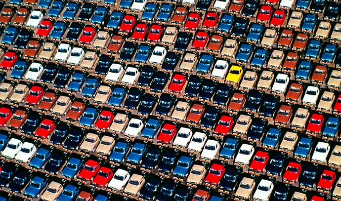 shot-from-above-car-plant-with-new-cars