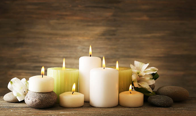 lit-scented-candles-decorative-accessories